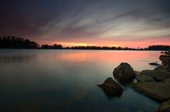 De mooie zonsondergang royalty-vrije stock foto