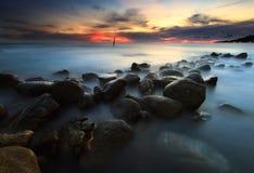 De mooie zonsondergang stock afbeeldingen