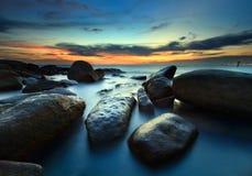 De mooie zonsondergang stock afbeelding
