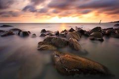 De mooie zonsondergang royalty-vrije stock afbeeldingen