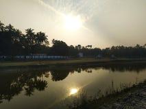 De mooie zonsondergang royalty-vrije stock afbeelding