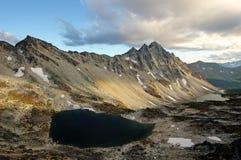 De mooie zonsondergang in de Kustbergen van Brits Colombia, kan Royalty-vrije Stock Foto's