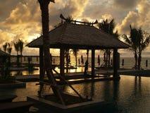De Mooie Zonsondergang van de Toevlucht van het strand Royalty-vrije Stock Foto