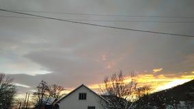 de mooie zonsondergang van de tijdtijdspanne in de winter stock video