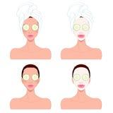 De mooie zorg van de vrouwen` s huid Stock Foto's