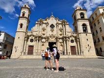 De mooiste toeristenplaatsen in Havana op Cuba Stock Afbeelding