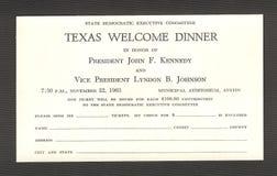 De Moord van John F. Kennedy stock foto's