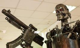 De moordenaar van het robotmetaal stock afbeelding