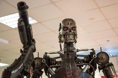 De moordenaar van het robotmetaal Stock Foto