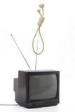 De moordenaarsconcept van TV Stock Foto's