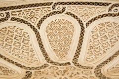 De Moorse achtergrond van de stijlgipspleister Stock Afbeeldingen
