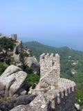 De Moorse Ruïnes Sintra van het Kasteel Stock Fotografie