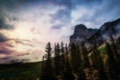 De Morene Canada van het meer stock fotografie