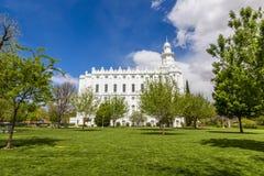 De Mormoonse Tempel van LDS in St George Utah Royalty-vrije Stock Afbeelding