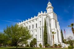 De Mormoonse Tempel van LDS in St George Utah Royalty-vrije Stock Afbeeldingen
