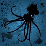 De morserijoctopus van de olie op zee Royalty-vrije Stock Foto's