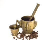 De mortieren van het brons royalty-vrije stock foto