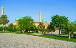 De moskee achter de bomen Royalty-vrije Stock Fotografie