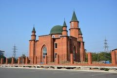 De moskee in de stad van komsomolsk-op-Amur, Rusland royalty-vrije stock foto