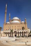 De moskee in Kaïro Stock Foto