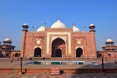 De moskee in Taj Mahal, India Stock Fotografie