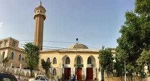 De moskee van Abu Ḥamid Muḥammad ibn Muḥammad al-Ghazali in Hydra distaal-Ghazali is langs verwezen naar royalty-vrije stock afbeeldingen