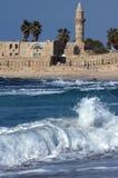De moskee van Anicient in Caesarea Stock Foto