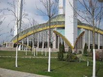 De moskee van Aymanikadyrova in Argun, Tchetcheense Republiek in Rusland De moskee wordt genoemd `-moeder` s hart ` royalty-vrije stock fotografie