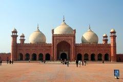 De Moskee van Badshahi (Badshahi masjid) Stock Foto's