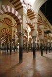 De moskee van Cordoba binnen Stock Foto