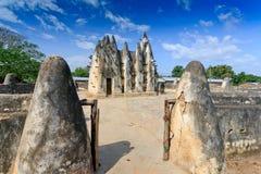 De moskee van de modder en van de stok - brede hoek Royalty-vrije Stock Foto's