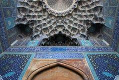 Van de sjah (Imam) de Moskee in Isphahan, Iran Stock Afbeeldingen
