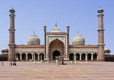 De moskee van Delhi Royalty-vrije Stock Afbeeldingen