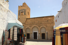 De Moskee van drie deuren - Kairouan stock foto