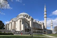 de Moskee van de 16de eeuwsuleymaniye, de grootste moskee in Istanboel royalty-vrije stock foto's