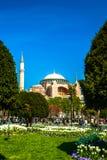 De moskee van Hagiasophia in Sultanahmet-Vierkant, Istanboel, Turkije royalty-vrije stock afbeeldingen