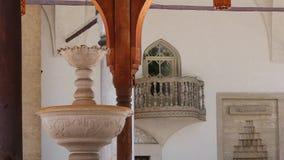 De moskee van het fonteinwater stock video