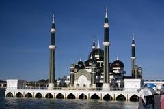 De Moskee van het kristal in Maleisië stock afbeelding