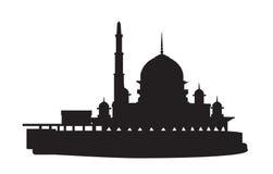 De moskee van het silhouet Stock Foto's