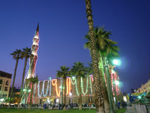De Moskee van Kaïro al-Hussein   Stock Afbeeldingen