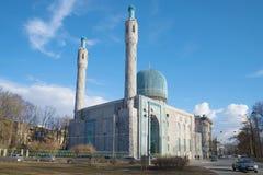 De moskee van kathedraaljuma op een zonnige Maart-dag Heilige-Petersburg Stock Foto