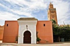 De Moskee van Koutoubia, Marrakech stock afbeeldingen