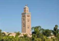 De Moskee van Koutoubia in Marrakech Stock Afbeeldingen