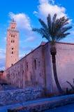 De moskee van Koutubia in Marakesh Royalty-vrije Stock Afbeeldingen