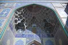 De sjeik Lotf Allah Mosque is een architecturaal meesterwerk van Iraanse architectuur Safavid Royalty-vrije Stock Fotografie