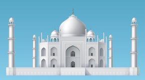 De moskee van Mahal van Taj vector illustratie