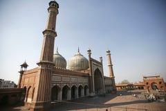 De moskee van Masjid van Jama, Delhi stock fotografie