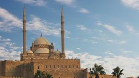 De moskee van Muhammad Ali Pasha Egypte Geschoten op Canon 5D Mark II met Eerste l-Lenzen stock video