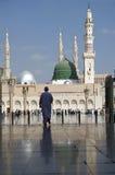 De Moskee van Nabawi, Medina, Saudi-Arabië Stock Foto