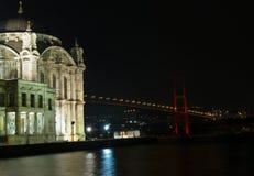 De moskee van Ortakoy in Istanboel Turkije Royalty-vrije Stock Fotografie